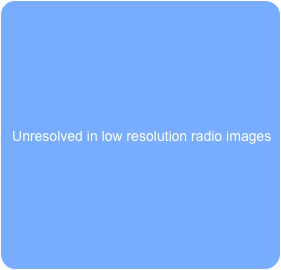 Unresolved in low resolution radio images